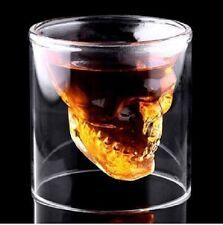 2x Schnapsglas Totenkopf Skull Shot  Schnapsgläser Glass Schnappsglas 75ml Neu