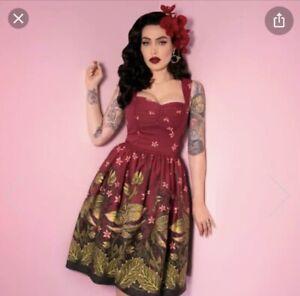 Vixen Pinup Dress Venus Flytrap Small BNWT Micheline Pitt Maneating Monster