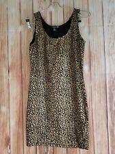 Forever 21 Juniors Mini Dress, Cheetah Print Black And Gold, SP