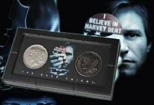 DC Comics Batman The Dark Knight Harvey Dent Two-Face 2 Coin Set + Display Case
