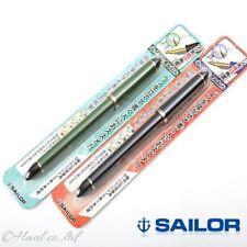 """Sailor Calligraphy 2 Pens Set Deep blue & Green """"Fude Fountain pen Fine ~ B nib"""