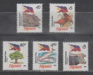 Philippine Stamps 1993 Flag with National symbols No. 2  complete as issued