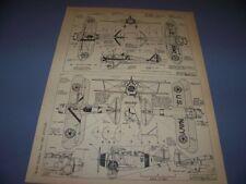 VINTAGE..BOEING P-26A & GRUMMAN F2F-1..4-VIEWS/CROSS SECTIONS...RARE! (495E)