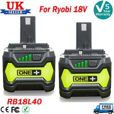 2X For Ryobi 18V ONE+ Plus RB18L50 RB18L40 P104 P108 4.0Ah Li-ion Battery P105
