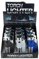 (Lot of 12) Double Jet Torch w/ SPRING DESIGN Lighter Adjustable Refillable 370D