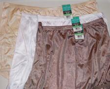 3 Vanity Fair Brief Panty Set Silky Soft Nylon 15712 Brown White Beige 8 XL NWT