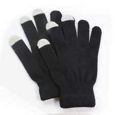 Black Smart texting gloves Warm winter Gloves for All Touch Screen Devices