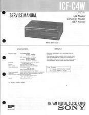 Sony Original Service Manual für ICF- C4W