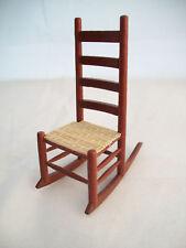 Mesh Seat Child's Rocker dollhouse furniture T6755 rocking chair 1/12 scale