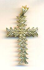 14K GOLD DETAILED LARGE Religous Christian CROSS  4.1 GR
