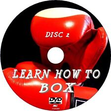 NEW 2 DVD SET LEARN BOXING SKILLS, EASY TO FOLLOW DEFENCE COUNTERS TRAINING Etc