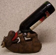 Wine Bottle Holder and/or Decorative Sculpture Moose Lying Down NEW