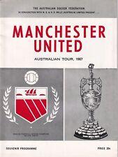 South Australia Manchester United 1967 Football Programme Australian Tour