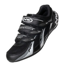 NORTHWAVE FIGHTER ROAD 3-BOLT VELCRO CLOSURE CYCLE SHOES - BLACK - REDUCED!