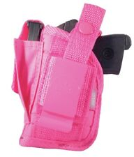 Pink Nylon Hip Gun Holster For Smith & Wesson Bodyguard 380 With Laser