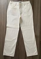 LAUREN RALPH LAUREN Women's Ivory Cotton Blend Straight Jeans-Size 8