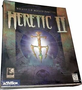 Heretic II Large Retail Box for PC, Vintage 1998, New! Mint in Sealed Box! MISB!