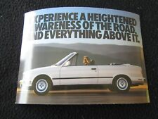 1987 1988 BMW 325i Convertible Postcard E30 3 Series Conv't unused 1989 90 92 91