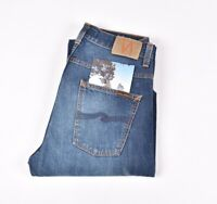 Nudie Jean Loose Leif Classique Crumble Bleu Hommes Jean Taille 31/30