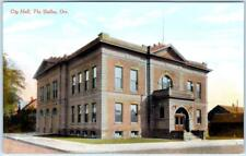 THE DALLES, Oregon  OR    CITY HALL  ca 1910s    Postcard