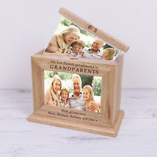 Grandparents Wooden Photo Album Frame - Engraved Personalised Names Gift