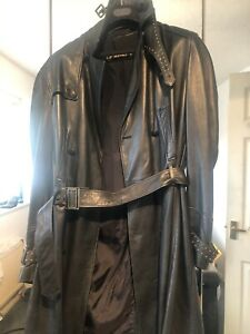 Beautiful Vintage versace leather trench coat With Studded On the hams