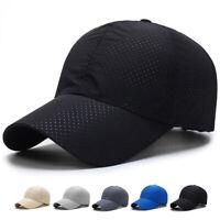Men Women Summer Snapback Quick Dry Mesh Baseball Cap Sun Hat Breathable Hats ##