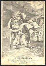 CHRISTOPHORUS Heiliger Christophorus von Pieter de Jode 1630 - Original!