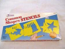 Vintage Common Shapes Stencils, 1986
