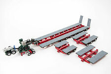 DRAKE 7x8 STEERABLE TRAILER with 2x8 DOLLY & 5x8 ACCESSORY CLIP SET - MEMBREYS