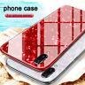 Pour IPHONE XS Max 7 8plus Coque de Luxe Marbre Verre Trempé Rigide