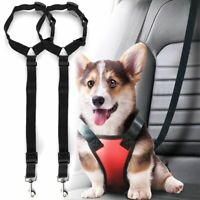 Dog Pets Safety Seat Belt Strap Car Headrest Restraint Vehicle Seatbelts Harness