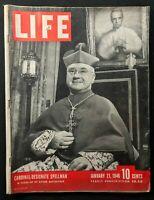 LIFE Magazine - Jan 1946 - CARDINAL SPELLMAN / GM Strike / Hiromichi Kumazawa