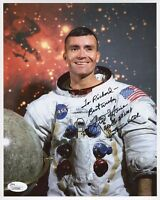 FRED HAISE HAND SIGNED 8x10 COLOR PHOTO    JSA AUTHENTIC      SIGNED TO RICHARD