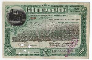 1901 Baltimore & Ohio Railroad Bond -  E.H. Harriman