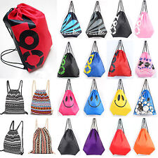 Unisex Emoji Gym Swim Bag Drawstring School Dance Sports Kids Backpack  Outdoor a1c07db3cbaba