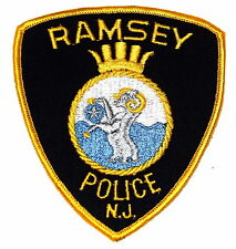 RAMSEY NEW JERSEY NJ Police Sheriff Patch CROWN GOAT RAM VINTAGE OLD MESH ~
