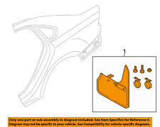 VW VOLKSWAGEN OEM 16-17 Passat Exterior-Splash Guard Kit 561075101A