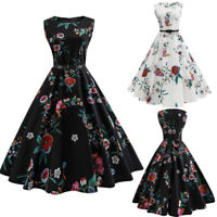 Ladies Vintage Style 1940s Rockabilly Cocktail Evening Swing Skaters Tea Dress