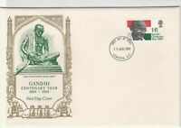gandhi centenary year 1969 fdc stamps cover ref 12885