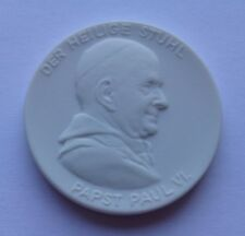 Pope Saint Paul VI Meissen porcelain medal