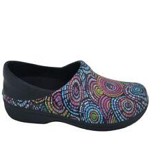 Crocs Dual Comfort Neria Pro Clogs Floral Pink Women 8 Slip Resistant Beautiful