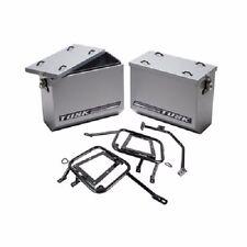 Tusk Aluminum Panniers w/ Pannier Racks Large Silver SUZUKI DRZ400S DRZ400SM