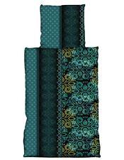 2 tlg Bettwäsche 135x200 cm Ornamente petrol grün Microfaser Garnitur