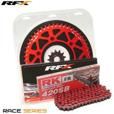 RK 420SB Red Chain & RFX Aluminium Red Sprocket Kit 15/52 Teeth Honda CR80 CR85