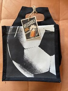 NWT ❤️ Craft Beer Gift Bag Carry Tote Canvas Holds (6) NEW with Tags Reusable
