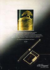 PUBLICITE ADVERTISING 025  1980  DUPONT  collection  stylo bille & briquet