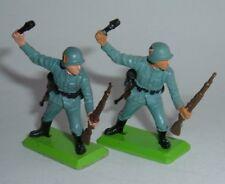 Britains Deetail WW2 Soldier - 2 no. Germn Grenade Throwers, - Superb Near Mint.