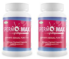 2 SPERMOMAX Volume Pills Male Enhancer Increase Semen 500% More Sperm