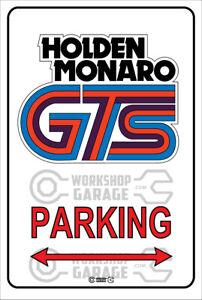 Parking Metal Sign - Holden Monaro GTS retro